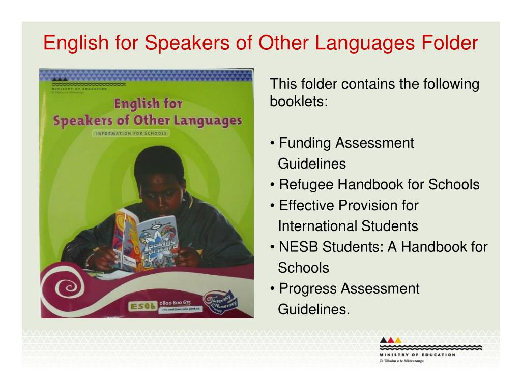 English for Speakers of Other Languages Folder