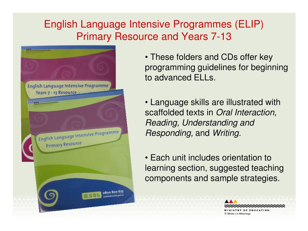 English Language Intensive Programmes (ELIP)