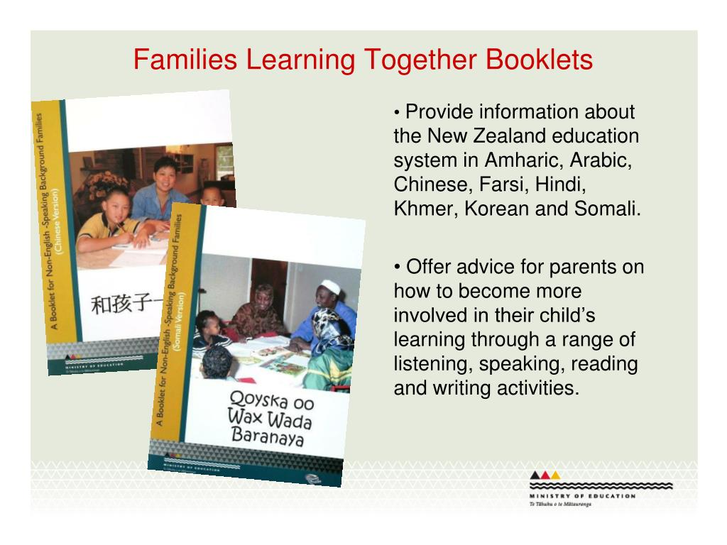 Families Learning Together Booklets