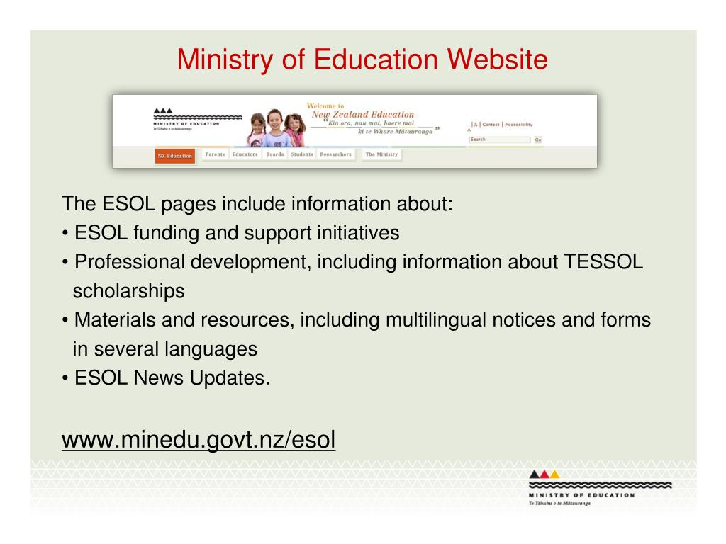 Ministry of Education Website