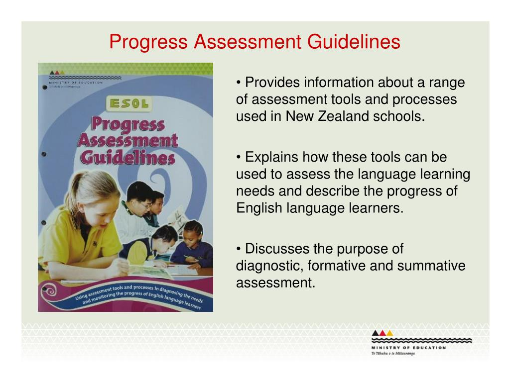 Progress Assessment Guidelines
