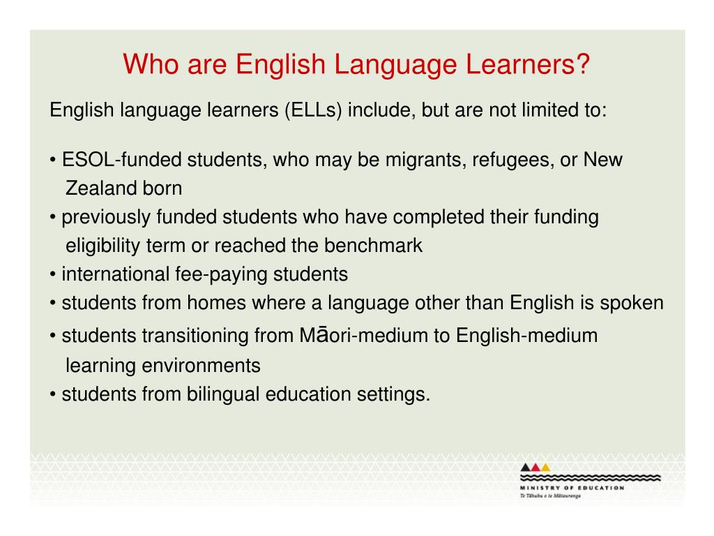 Who are English Language Learners?