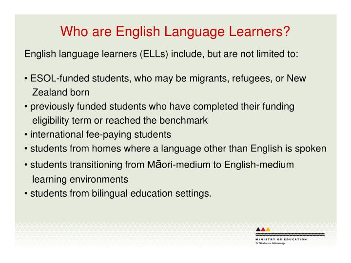 Who are english language learners