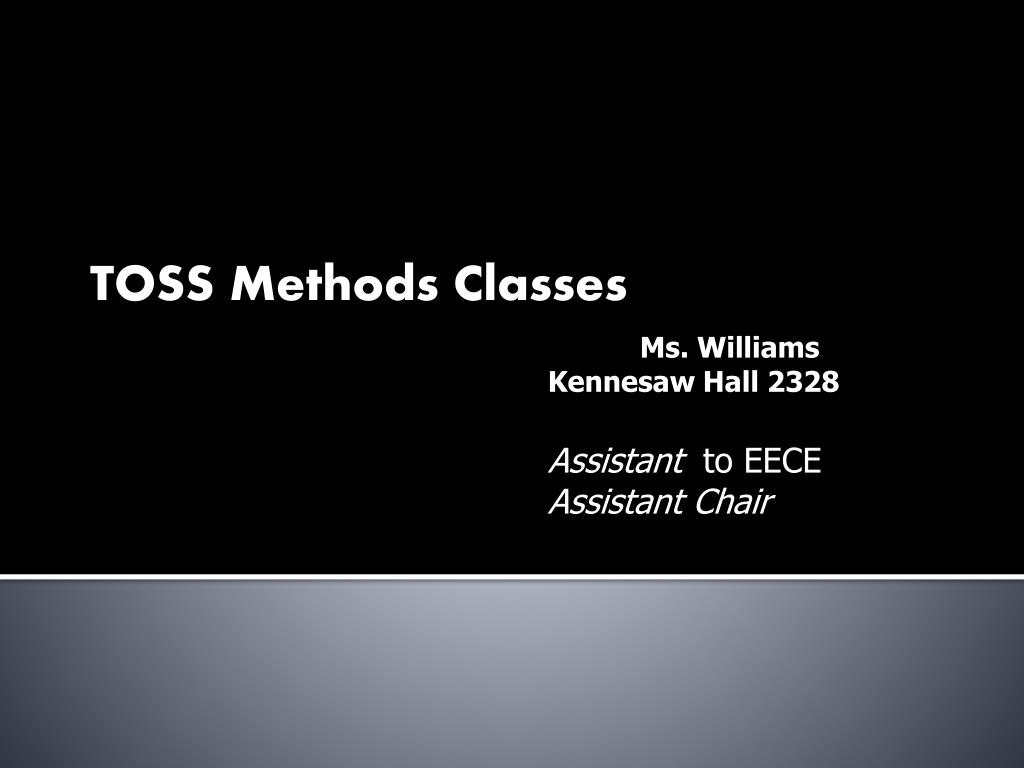 TOSS Methods Classes