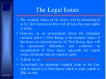 the legal issues9