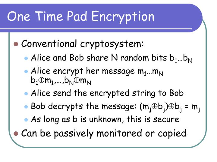 One time pad encryption