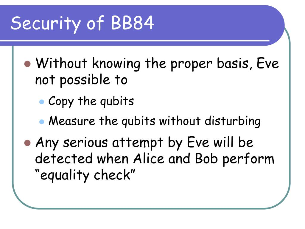 Security of BB84