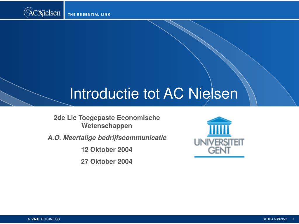 Introductie tot AC Nielsen