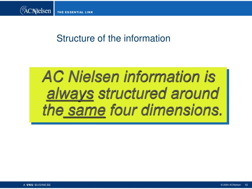 Structure of the information
