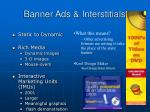 banner ads interstitials