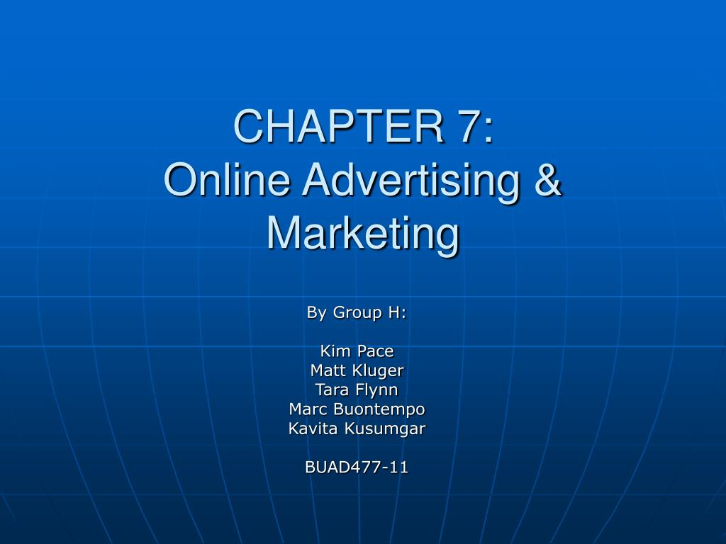chapter 7 online advertising marketing l.