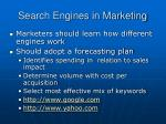 search engines in marketing