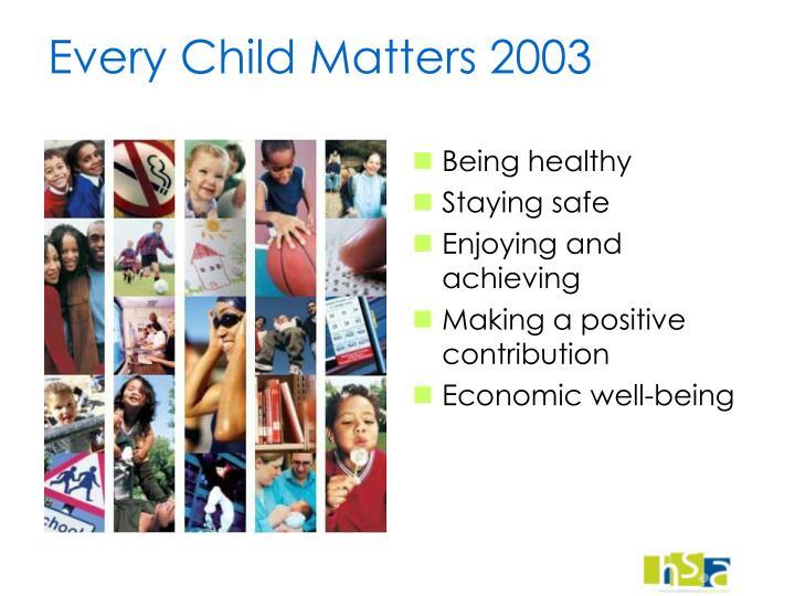 Every Child Matters 2003