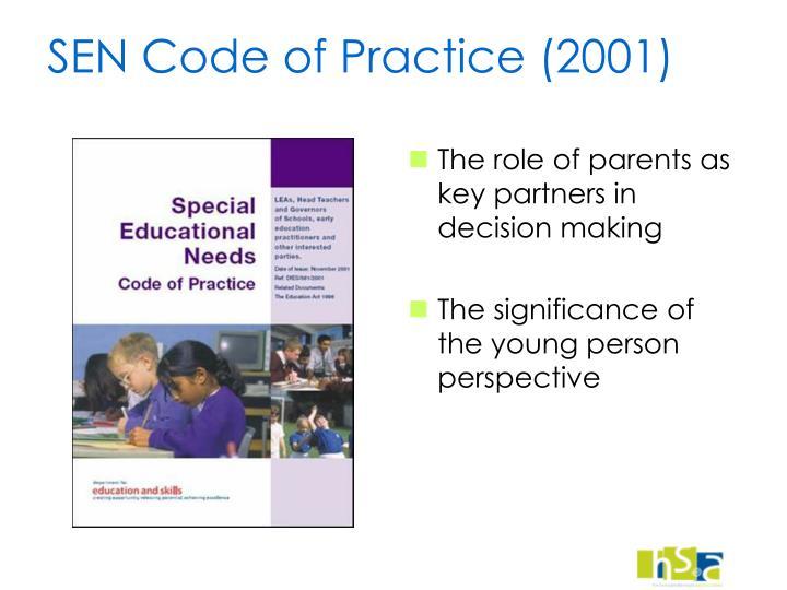 SEN Code of Practice (2001)
