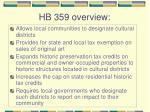 hb 359 overview