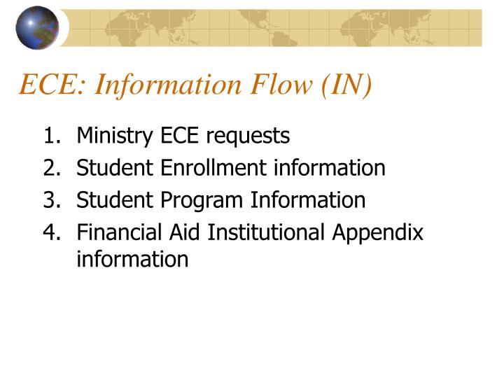 ECE: Information Flow (IN)