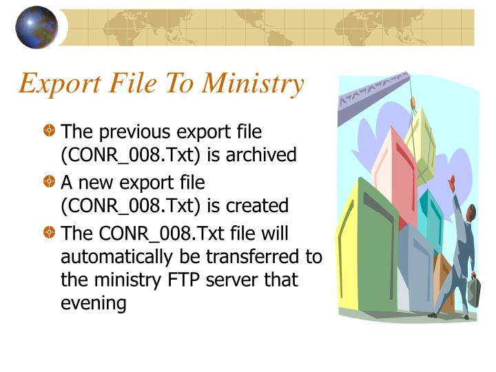 Export File To Ministry