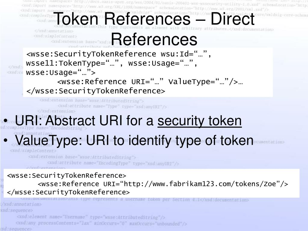 Token References – Direct References