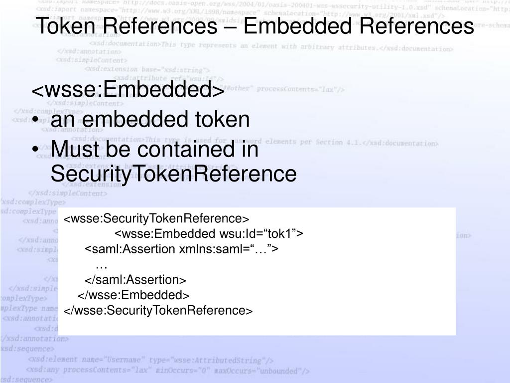 Token References – Embedded References