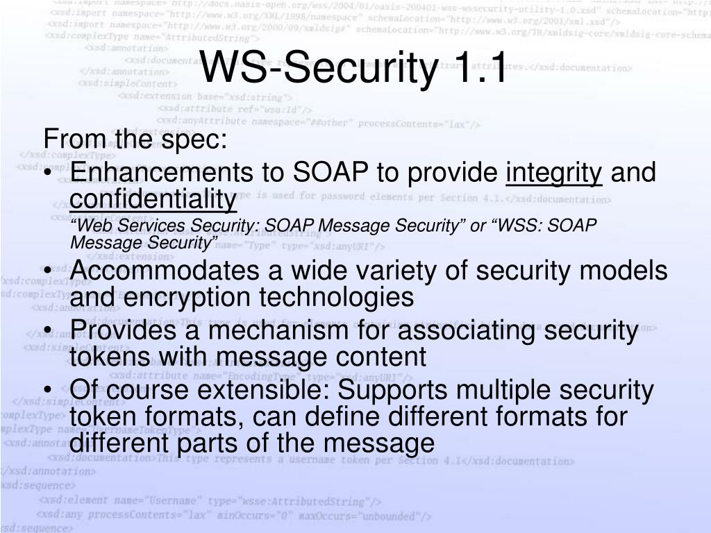 WS-Security 1.1