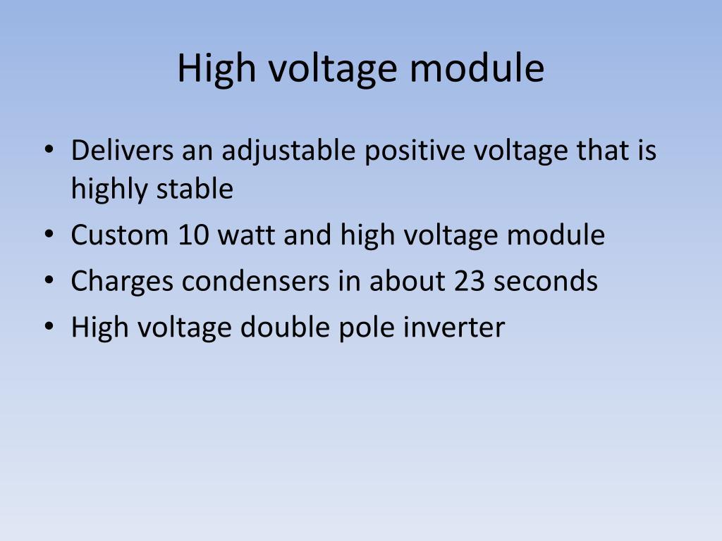 High voltage module