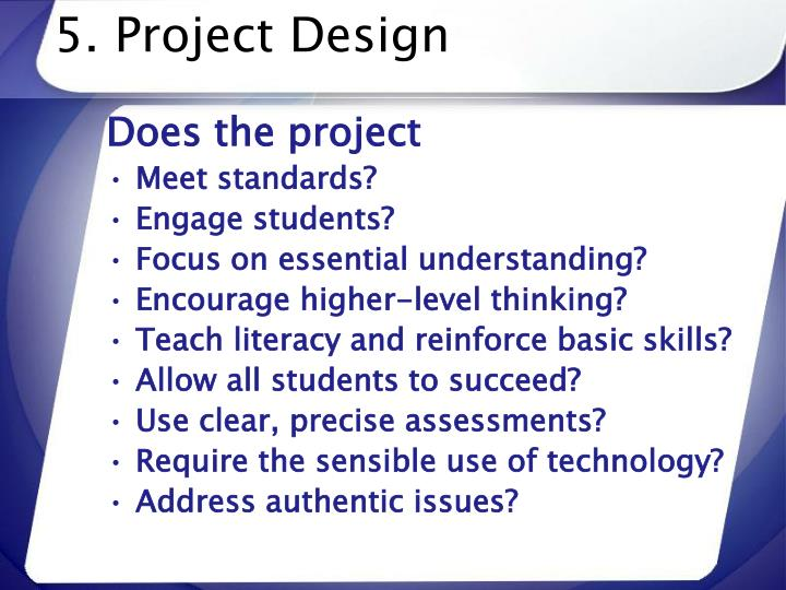 5. Project Design