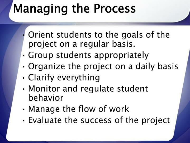 Managing the Process