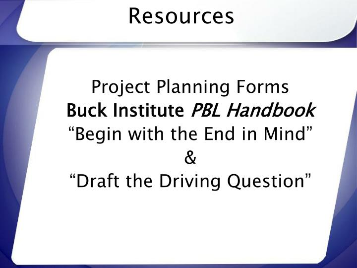 Project Planning Forms