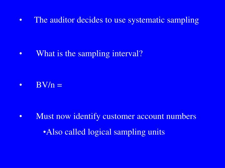 What is the sampling interval?