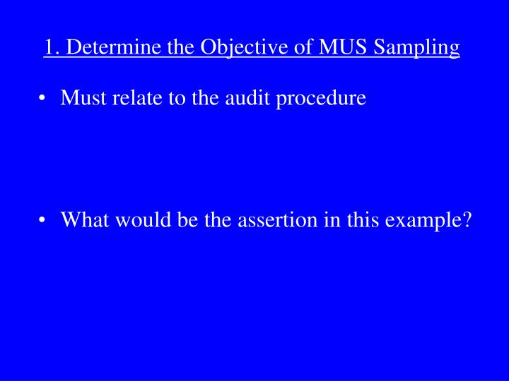 Must relate to the audit procedure
