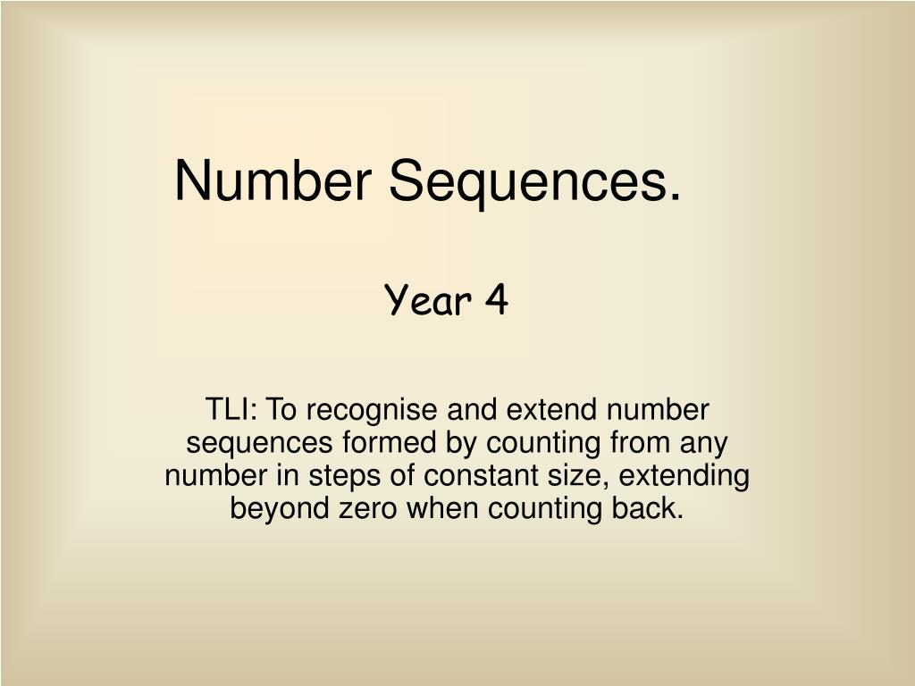 number sequences l.