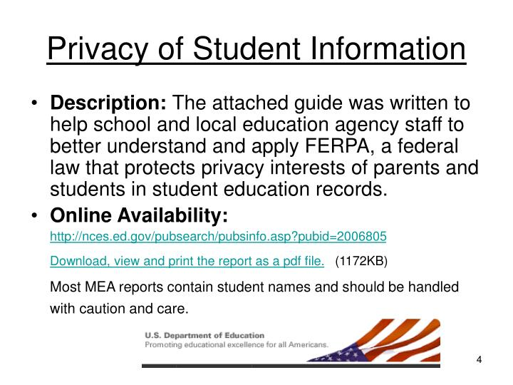Privacy of Student Information