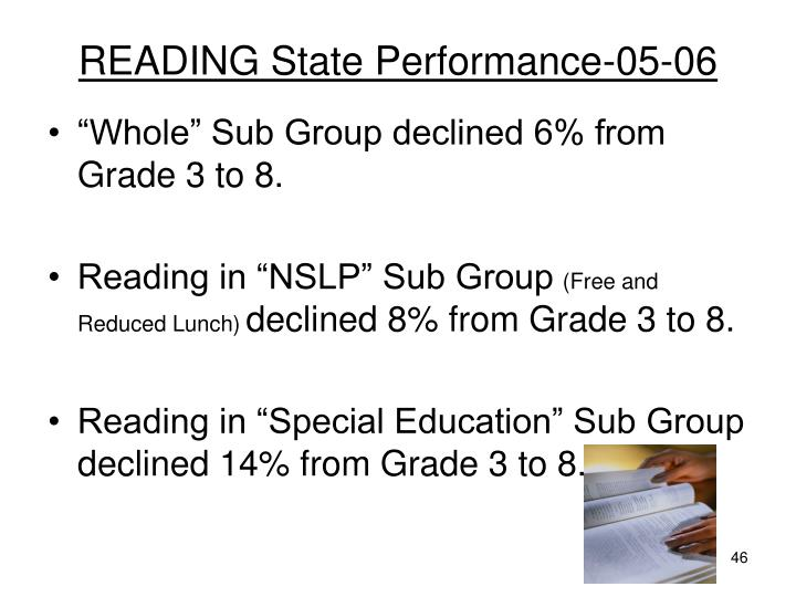 READING State Performance-05-06