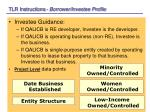 tlr instructions borrower investee profile18