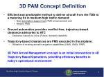 3d pam concept definition