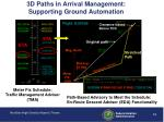 3d paths in arrival management supporting ground automation