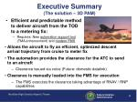 executive summary the solution 3d pam