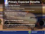 primary expected benefits