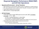 required navigation performance rnav rnp and 3d path operations