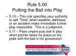 rule 5 00 putting the ball into play1