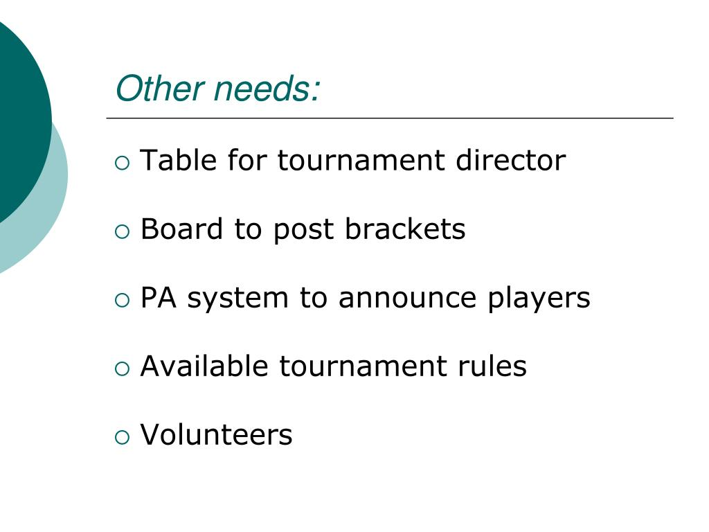 Other needs: