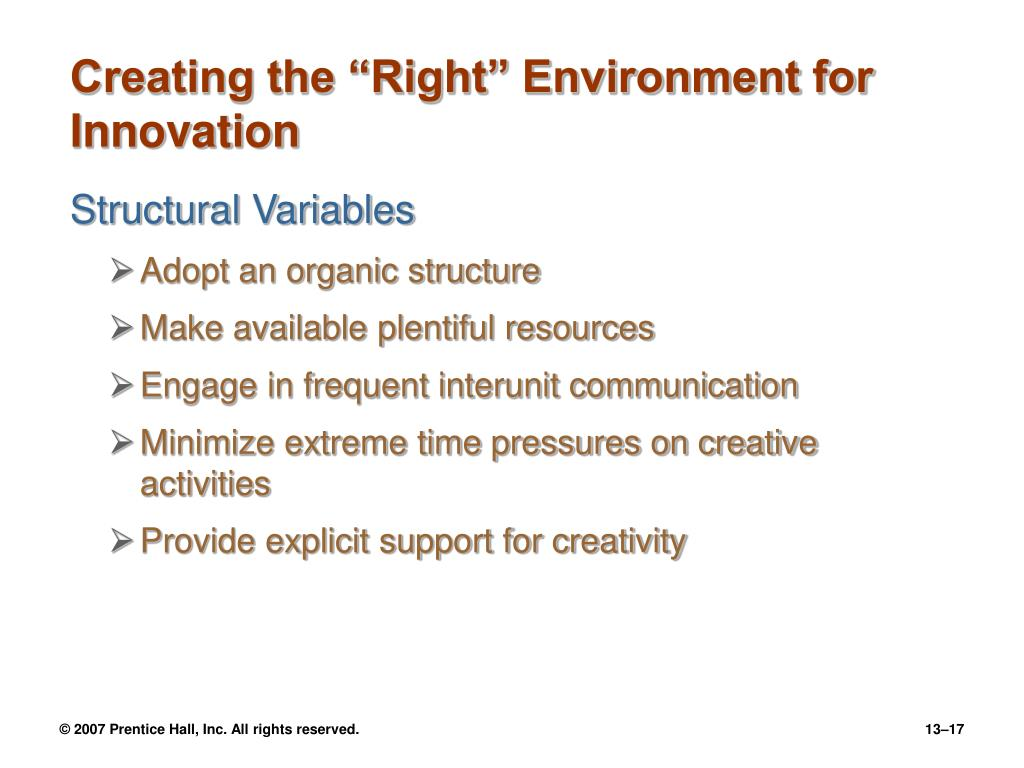 """Creating the """"Right"""" Environment for Innovation"""