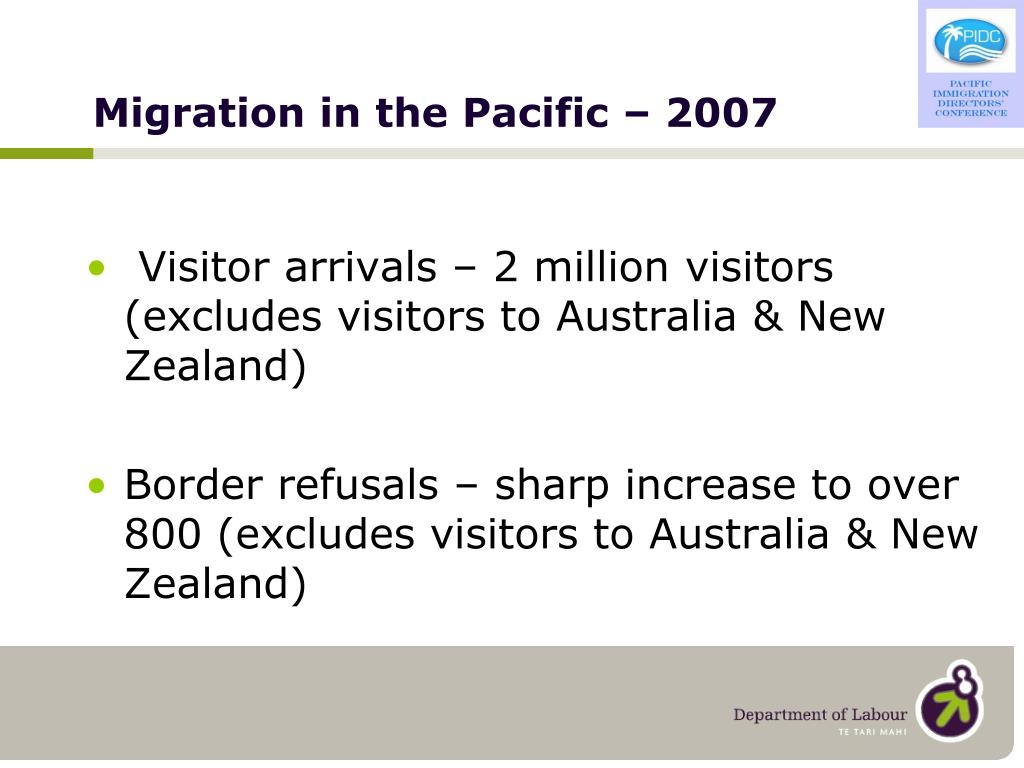 Migration in the Pacific – 2007