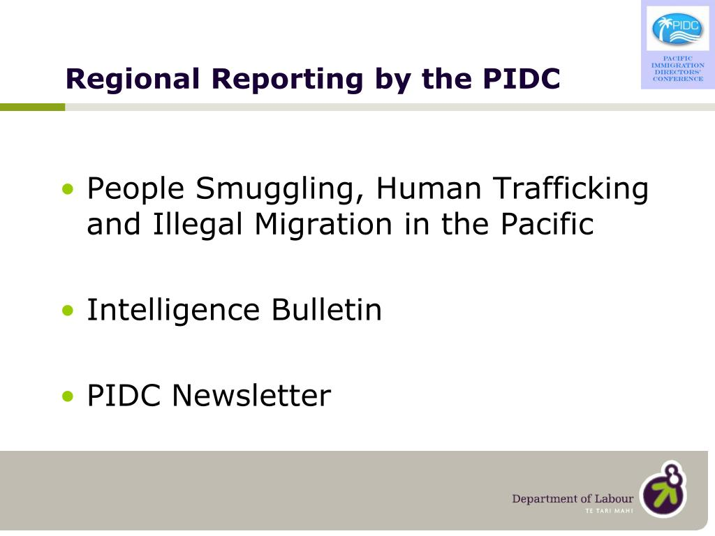 Regional Reporting by the PIDC