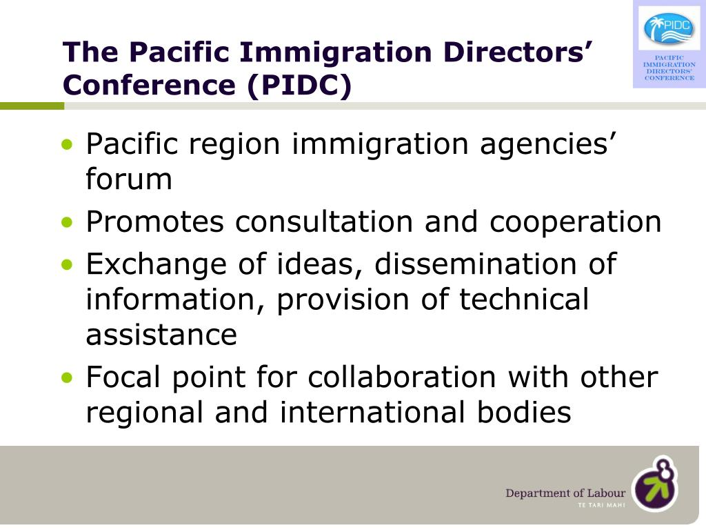The Pacific Immigration Directors' Conference (PIDC)