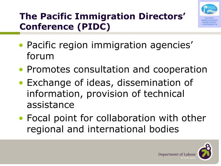 The pacific immigration directors conference pidc