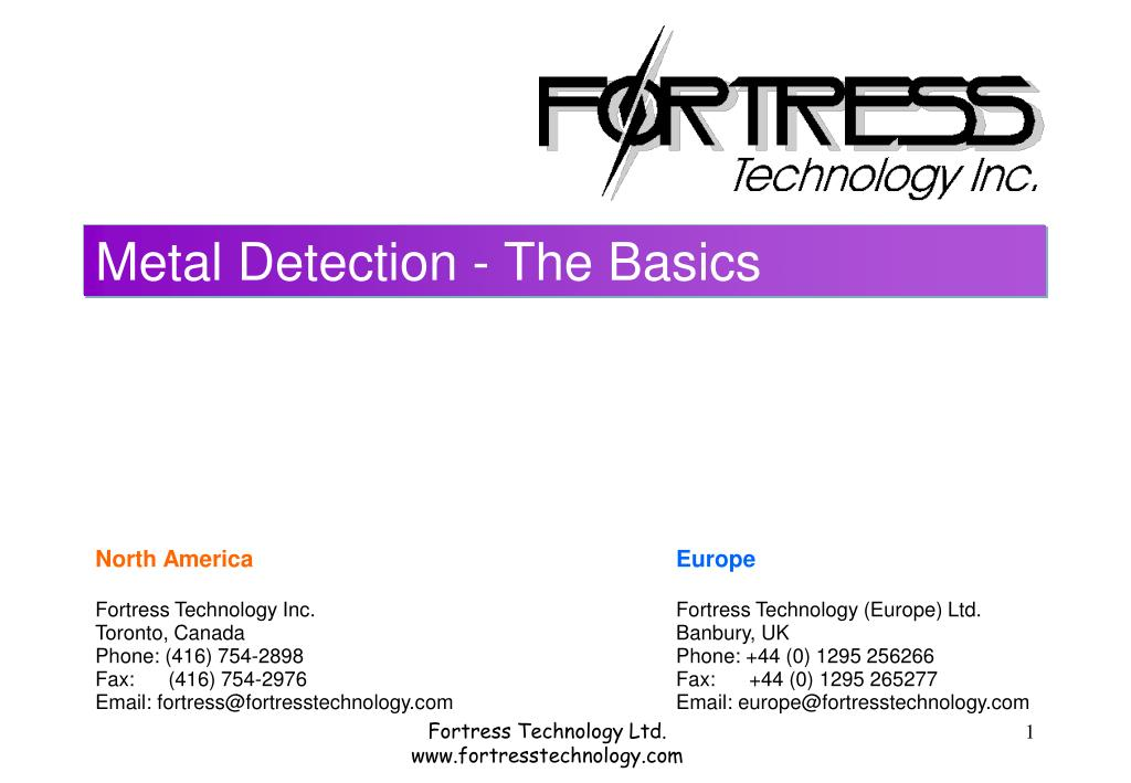metal detection the basics