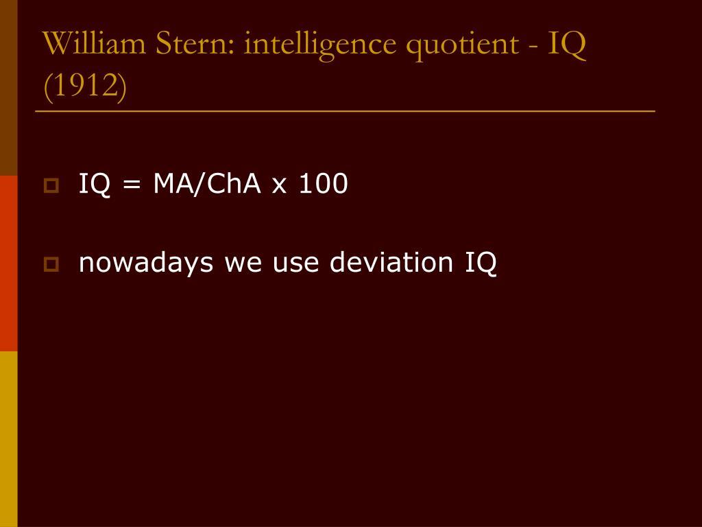William Stern: