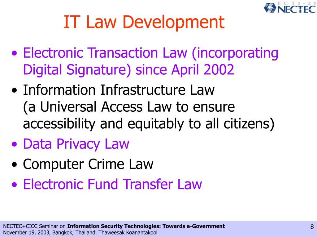 IT Law Development