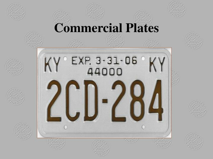 Commercial Plates